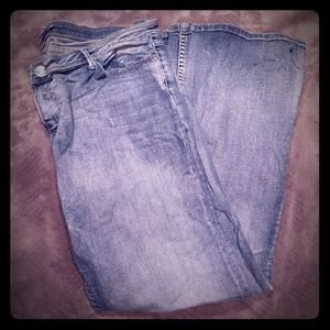 Vigoss Bootcut distressed Denim Jeans Size 17